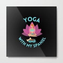 morning yoga with my dog Metal Print