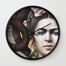 Hommage a Frida 5 Wall Clock