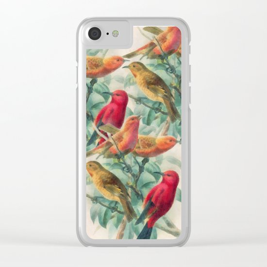 Songbirds Clear iPhone Case