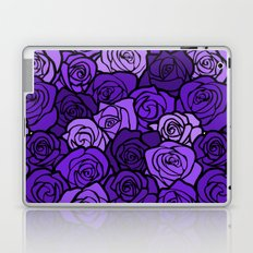 Romantic Purple roses with black outline Laptop & iPad Skin