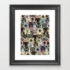 just cats retro Framed Art Print