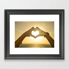 Love the Beach Framed Art Print