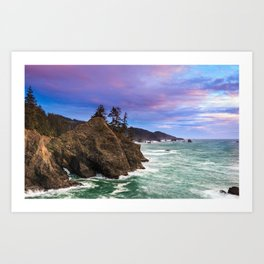 Thunder Rock Cove Sunset Art Print