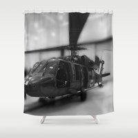 army Shower Curtains featuring army helicopter by Stephanie