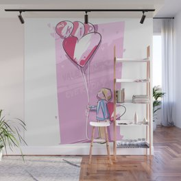 This Kid Loves Valentine's Day Everyday Wall Mural