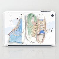 converse iPad Cases featuring Converse Shoes by Jessica Feral