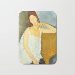 """Amedeo Modigliani """"Jeanne Hebuterne"""" Bath Mat"""
