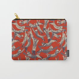 cat party retro Carry-All Pouch