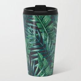 Palm and Banana Leaf Tropical Pattern Travel Mug