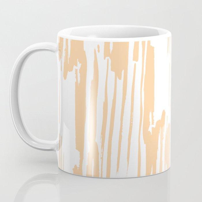 Modern Coral Stripes IV Coffee Mug