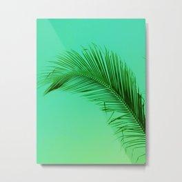 Green Metal Print