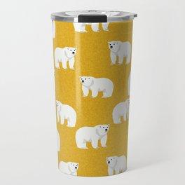 Polar Bear pattern cute animals print for kids room decor boys and girls nursery Travel Mug