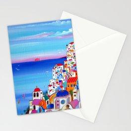 SANTORINI VILLAGE FANTASY Stationery Cards