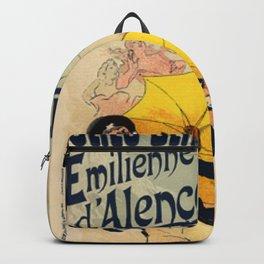 Folies Berg Res Emilienne D Alen On 1900 By Jules Cheret | Reproduction Art Nouveau Backpack
