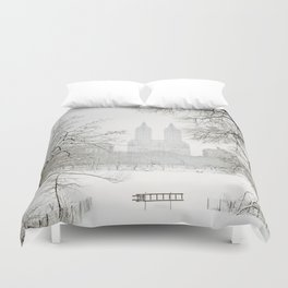 Winter - Central Park - New York City Duvet Cover