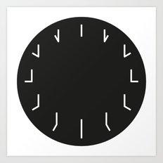 Clock Art Print