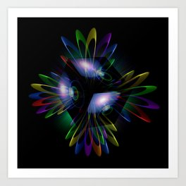 Abstract perfection - Light is energy Art Print