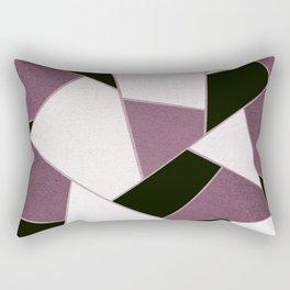 Mauve Black Geometric Glam #1 #geo #decor #art #society6 Rectangular Pillow
