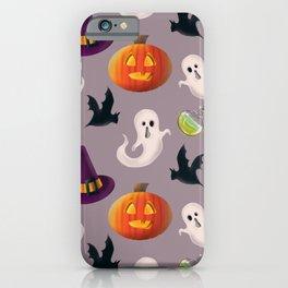 It's Halloween time seamless pattern digital illustration  iPhone Case