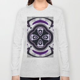 Decorative purple ornament design Long Sleeve T-shirt