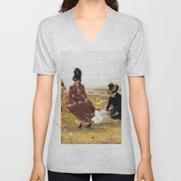 On the Beach, Trouville - Digital Remastered Edition Unisex V-Neck