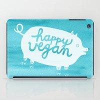 vegan iPad Cases featuring Happy Vegan by Anke Weckmann