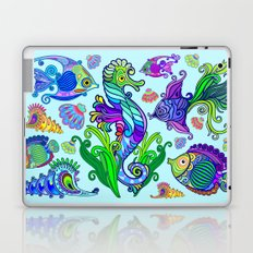 Marine Life Exotic Fishes & SeaHorses Ornamental Style Laptop & iPad Skin