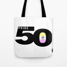 50 Pride Gay Twink Pride Flag Tote Bag