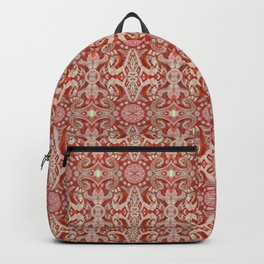 Curves & Lotuses Bohemian Arabesque Rust Copper Vanilla Taupe Backpack