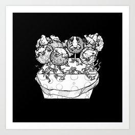 cake pop frog box Art Print