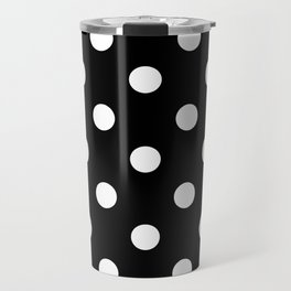 Black Polka Dots Palm Beach Preppy Travel Mug