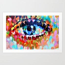 Coloured eye Art Print