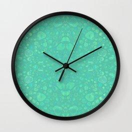Green Pebble Reflections Wall Clock