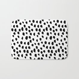 Handdrawn drops and dots on white-Mix & Match with Simplicty of life Bath Mat