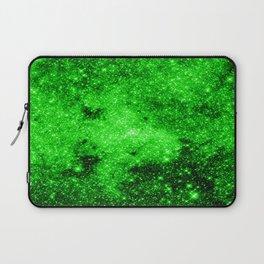 galaxy Stars 3 Bright Green Laptop Sleeve