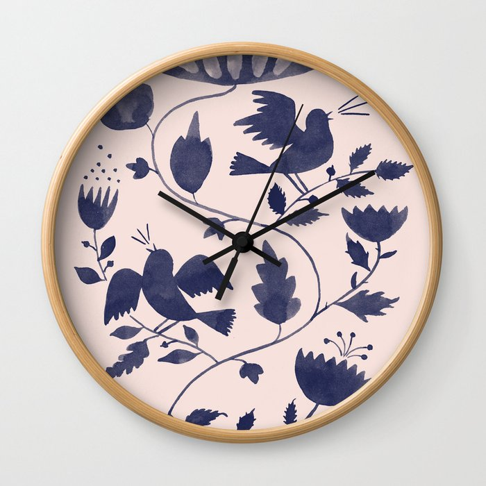 Singing Birds Wall Clock