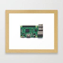 Pixelberry Pi Framed Art Print