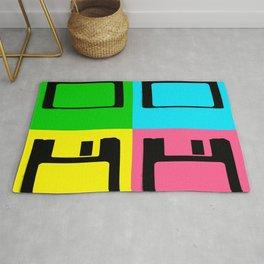 Floppy Disk Pop Art Number 1 Rug