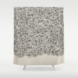Abstract Pattern – Black Shower Curtain