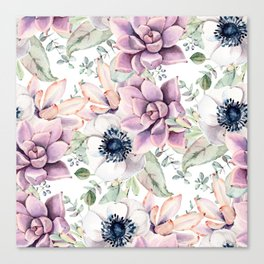 Oh my Succulents Canvas Print