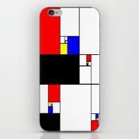 fibonacci iPhone & iPod Skins featuring Neo-Plastic-Fibonacci-1 by AMO Design