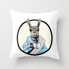 Java Llama Throw Pillow