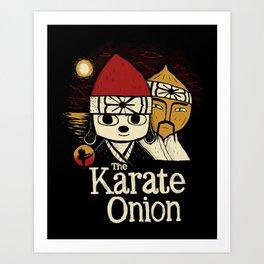 the karate onion Art Print