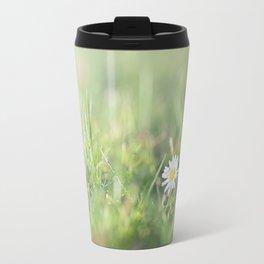Daisy flower in the field Travel Mug