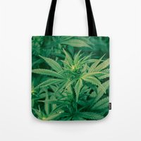 marijuana Tote Bags featuring Marijuana Plants  by Limitless Design
