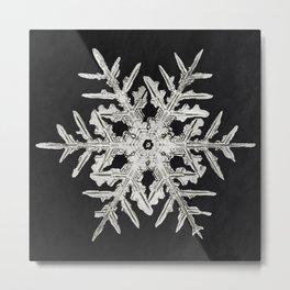 Wilson Bentleys Snowflake 332 (ca 1890) detailed photograph of snowflakes in high resolution by Wils Metal Print