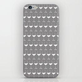 Wine Glasses on Grey iPhone Skin