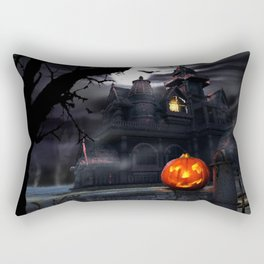 Happy Screaming Halloween Rectangular Pillow