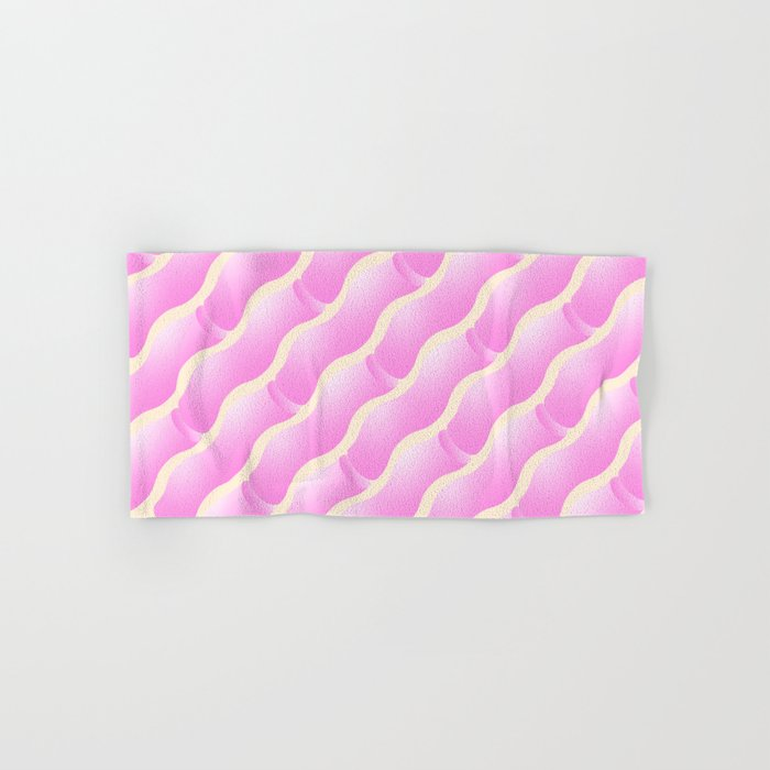 Geometric Vibes: Love Hand & Bath Towel