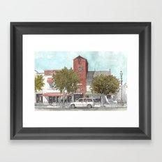 Sketching in Clovis, California Framed Art Print